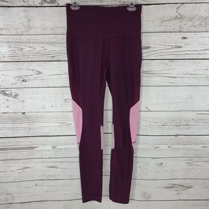 Xersion Legging Pants Athletic Stretch Fitted Mesh